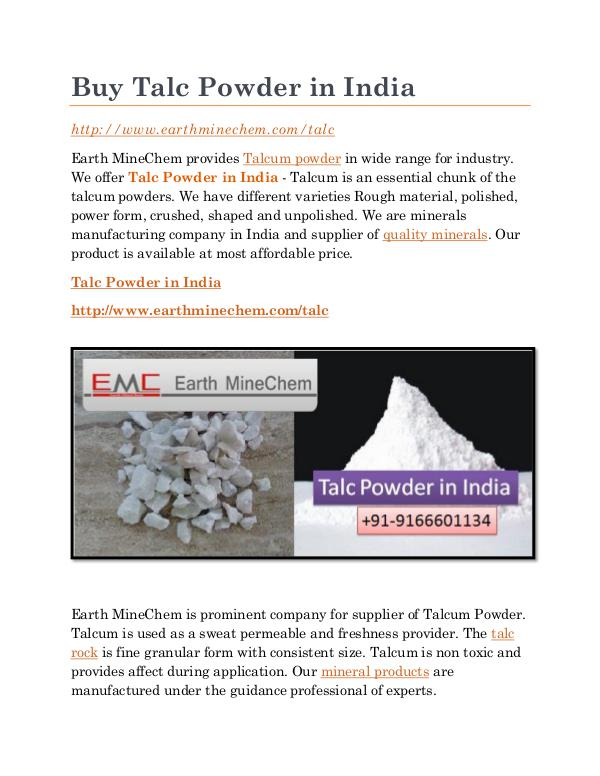 Buy Talc Powder in India