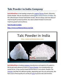 Talc powder in India