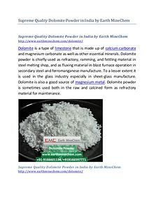 Supreme Quality Dolomite Powder in India by Earth MineChem