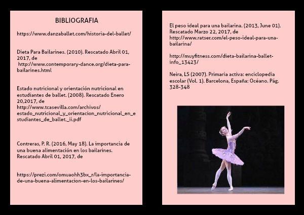 Peso para una bailarina de ballet