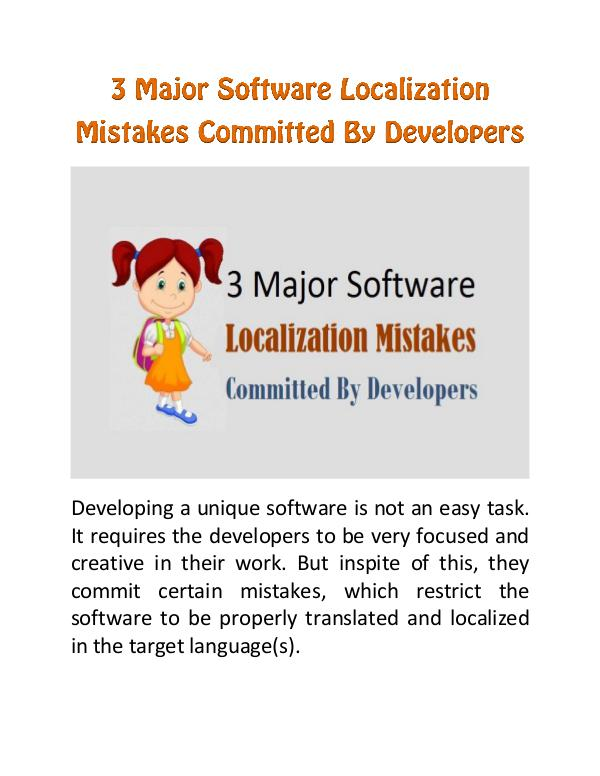 3 Major Software Localization Mistakes Committed By Developers 3 Major Software Localization Mistakes Committed
