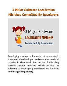3 Major Software Localization Mistakes Committed By Developers