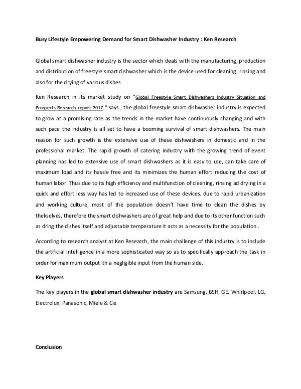 Market Research Report Ken Research