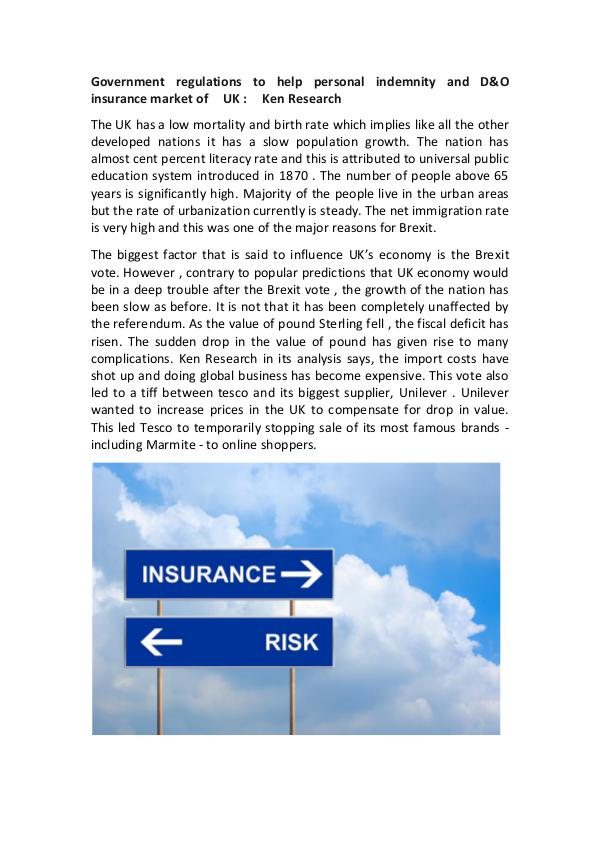 Market Research Report UK Insurance industry Regulations,UK insurance ind