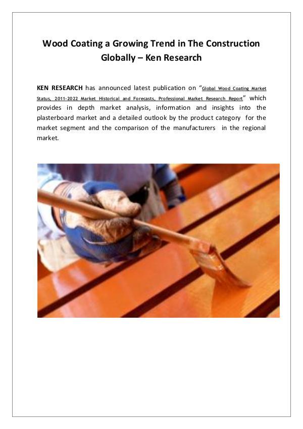 Global wood coating market trends,Global wood coat