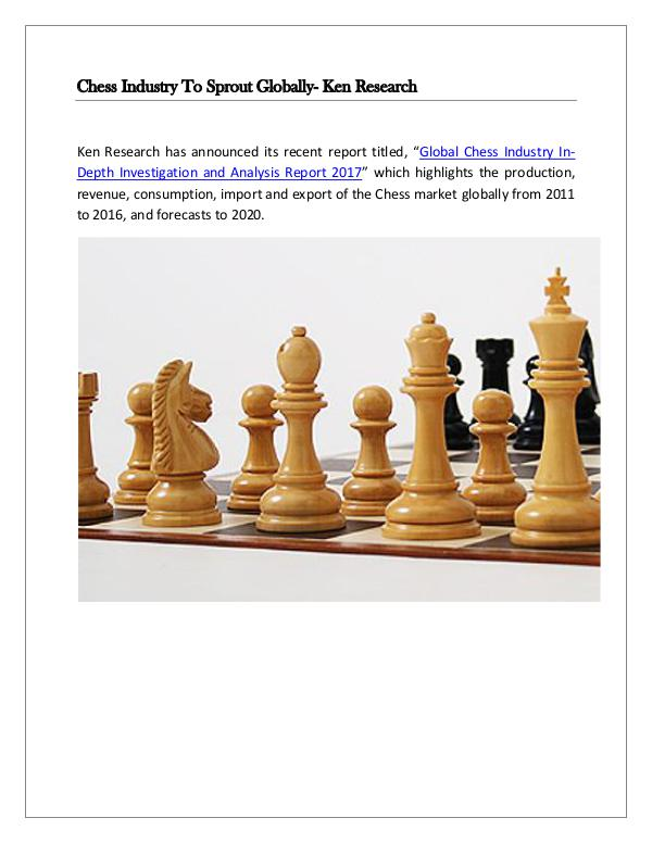 Market Research Report Global chess market future,Global chess market res