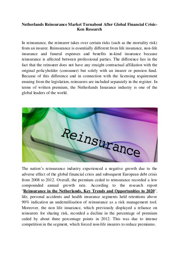 Netherlands insurance industry research,Europe ins