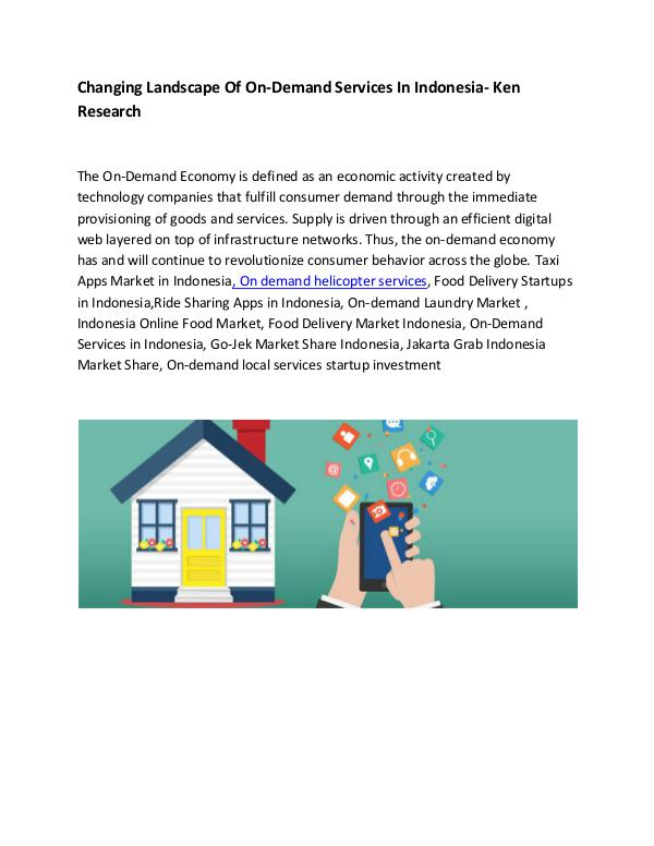 Market Research Report Food Delivery Market Indonesia,On-Demand Services