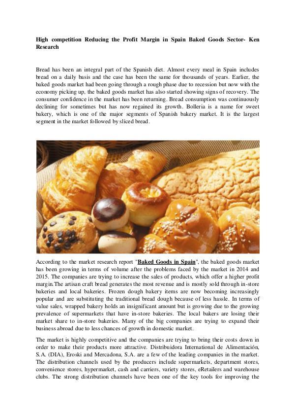 Spain Baked Goods Market Research Report,Spain Bak