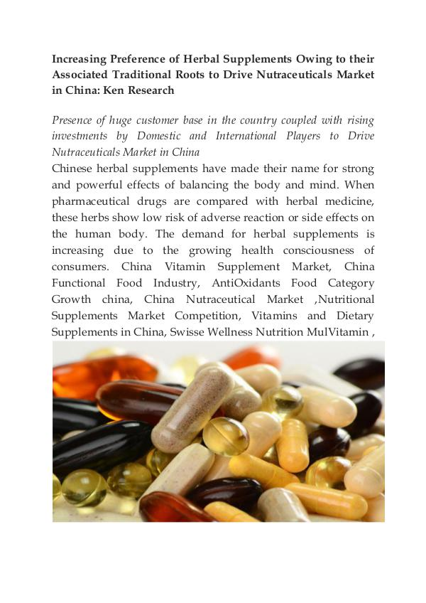 China Nutritional Supplements Market,Export Nutrit