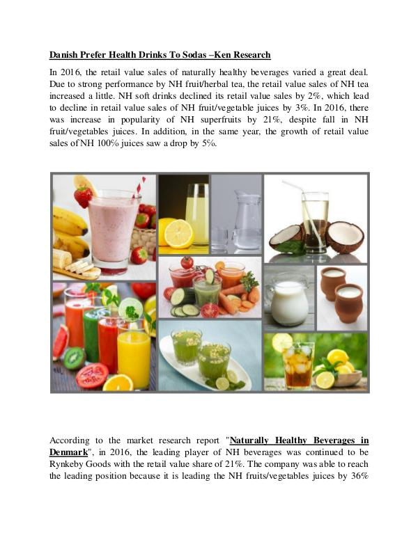 Denmark Naturally healthy beverages Market Future