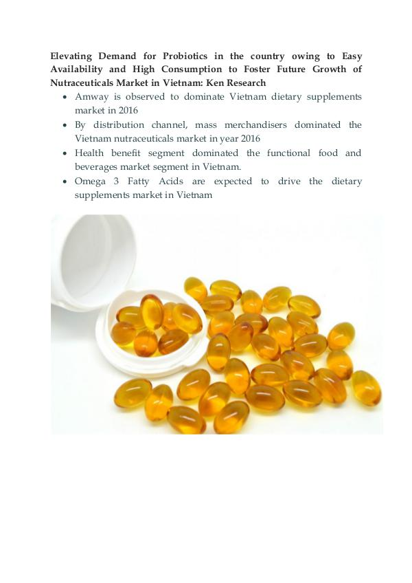 Market Research Report Vietnam Nutraceuticals Market Outlook to 2021-Ken