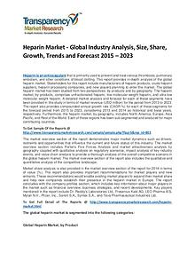 Heparin Market Share, Trends, Price and Analysis To 2023