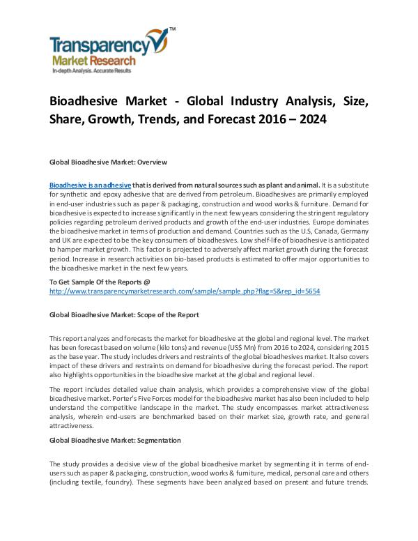 Bioadhesive Market Size, Share, Trends and Forecasts To 2024 Bioadhesive Market