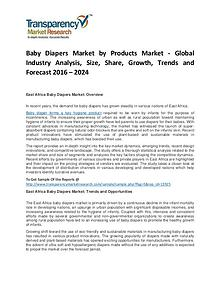 Baby Diapers Market Growth, Trends, Price, Demand and Forecast
