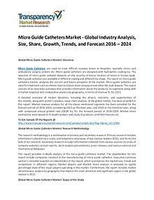 Micro Guide Catheters Market Growth, Price, Demand, and Analysis 2016