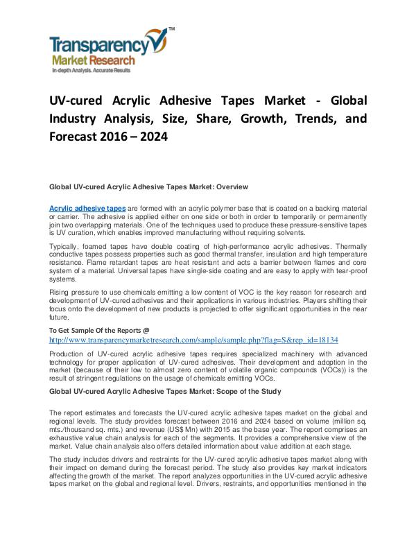 UV-cured Acrylic Adhesive Tapes Market Trends and Forecast UV-cured Acrylic Adhesive Tapes Market