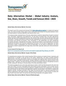 Dairy Alternatives Market Trends, Growth, Price, Demand and Analysis