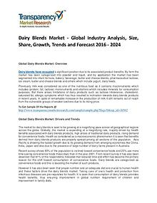 Dairy Blends Market Size, Share, Growth and Forecast 2024