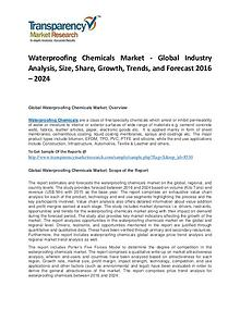 Waterproofing Chemicals Market Trends, Growth, Analysis and Forecasts
