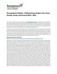 Fluoropolymers Market Growth, Trends, Demand and Forecasts To 2024