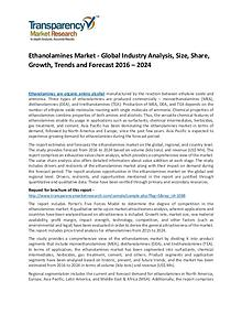 Ethanolamines Market Growth, Trends, Demand and Forecasts To 2023