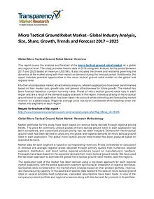 Micro Tactical Ground Robot Market Forecasts To 2025