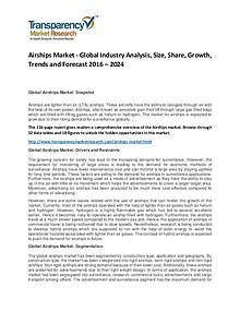 Airships Market Size, Share, Demand and Forecasts To 2024