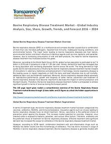 Bovine Respiratory Disease Treatment Market 2016