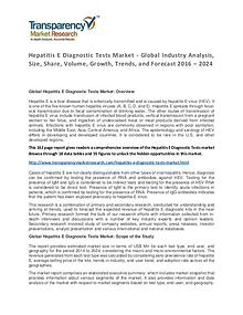 Hepatitis E Diagnostic Tests Market Trends and Industry Forecast