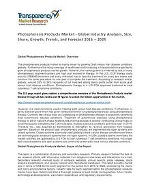 Photopheresis Products Market Research Report 2016