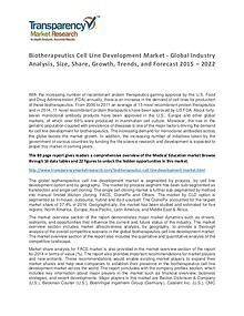 Biotherapeutics Cell Line Development Market Forecasts To 2024