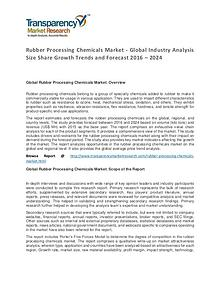 Rubber Processing Chemicals Market 2016 World Analysis and Forecast
