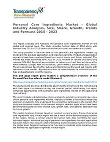 Personal Care Ingredients Market size, share, survey, strategy Report