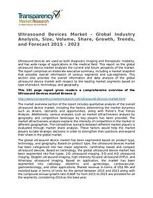 Ultrasound Devices Market Growth, Trends, and Forecast 2015 - 2023