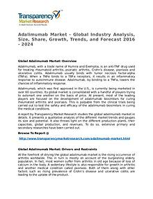 Adalimumab Market Growth, Trend, Price and Forecast to 2024