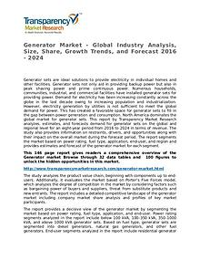 Generator Market Growth, Trend, Price and Forecast to 2024