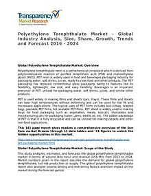 Polyethylene Terephthalate Global Analysis & Forecast to 2024