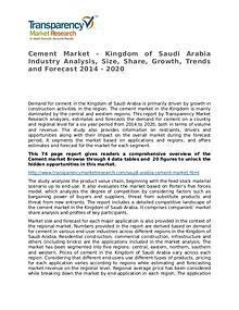 Cement Global Analysis & Forecast to 2014 Market Research Report