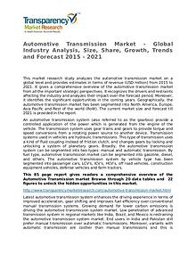 Automotive Transmission Global Analysis & Forecast to 2021 Market Res