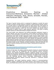 Predictive Genetic Testing & Consumer/Wellness Genomics 2017 Market