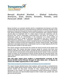 Benzyl Alcohol Market Research Report and Forecast up to 2024