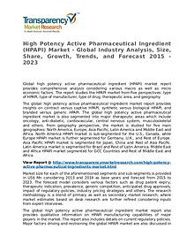 High Potency Active Pharmaceutical Ingredient Market Research Report