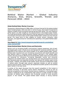 Bottled Water Market Research Report and Forecast up to 2024