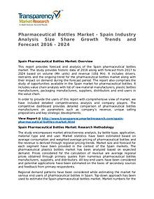 Pharmaceutical Bottles Market Research Report and Forecast up to 2024