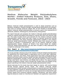 Medium Molecular Weight Polyisobutylene Market Research Report
