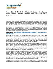 Corn Starch Market Research Report and Forecast up to 2024