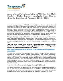 Amorphous Polyalphaolefin (APAO) for Hot Melt Market 2015