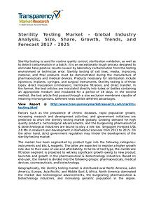 Sterility Testing Market Research Report and Forecast up to 2025