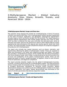 2-Methylpropene Market Research Report and Forecast up to 2024